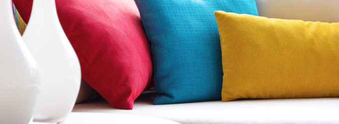 colorful couch and pillows